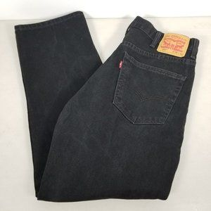 Men's LEVI'S 550 RELAXED Fit Black Jeans  38x30.5